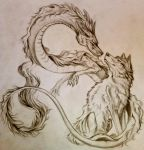 Dragon and Wolf by Lucky978