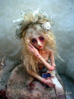 Harlequin romance ball jointed doll BB by cdlitestudio
