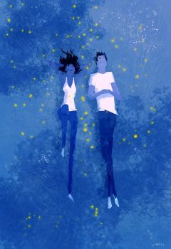 Blue Grass and Fireflies by PascalCampion