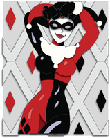 Commission:  Harley Quinn Shadowbox Mock-up by The-Paper-Pony