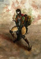 Lady Kophy Motorcycle Adventurer... by BlueMillenium