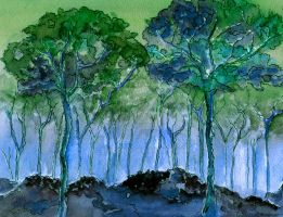 Blue Woods by aragonia