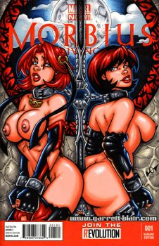 Naughty Bloodrayne + Chastity sketch cover by gb2k