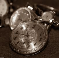 Telling Time in Sepia by WilsonPhotos