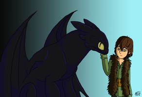 Toothless and Hiccup + video by keyblade-master-sara