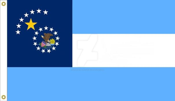 Illinois State Flag proposal No. 2 by StephenBarlow