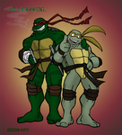 MNT Gaiden Raph and Renoir by theblindalley