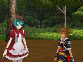 And if Sora met the Little Red Riding Hood ? by JackFrost-LCDA