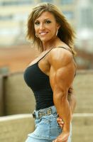 curvy female bodybuilder II by cribinbic