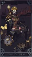 20120106 Robot Tarot Empress by ChimeraPathogen