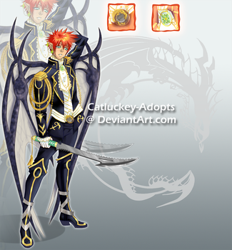 [CLOSED] Winged Bishie [Lowered Price Auction] by Catluckey-Adopts