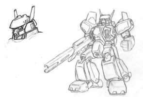 sketch: mecha battlesuit by Darcad