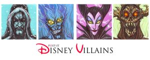 POST IT DISNEY VILLAINS by QuinteroART