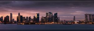 Singapore Skyline by dr-phoenix