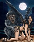 The Wolf and The Morrigan by Fantasy-Play