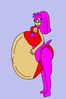 Request Heavily pregnant Amy Rose by Ant-D