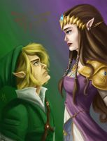 Link and Zelda by blindbandit5