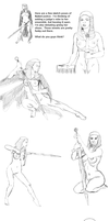 Naked Judge Pose Sketches by Afrodisium