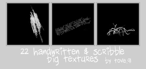 22 big text + scribble texture by Tove91