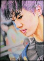 Bang Yongguk - Colour Pencils by diamondnura