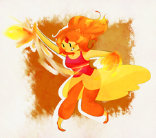 Flame Cutie pie by SplicedLamia