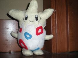 Togepi plushie by 42LifeIsForLiving42