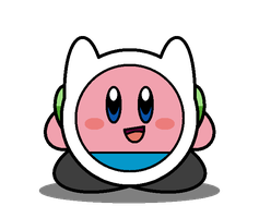Kirby Adventure Time: Finn the Human by Kirby-Force