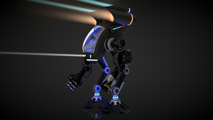 Black Robot Controllable by Valadj