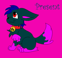 Present The Christmas Wolf Puppy by Marxie2132