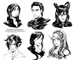 Portraits commissions 4 by Orpheelin
