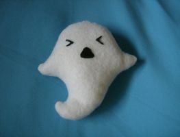 Baby Ghost Plushie by MythrilAngel