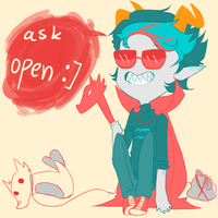 Ask Teal Eridan! :0 by SoonToBeMangaka
