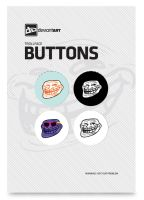 Trollface Button Pack by deviantWEAR