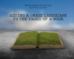 Photoshop Tutorial - Grass Landscape to a Book by kevron2001