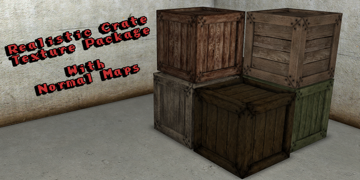 Realistic Wooden Crate Texture Package by Rami94