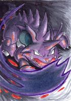 Nidoking's Shadow Claw by Porcubird