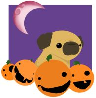 Pugly Halloween by Goggalor
