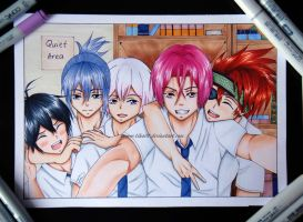 Copic crossover: group selfie XD by Tiha90