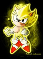 Classic Super Sonic by Robie-Chan