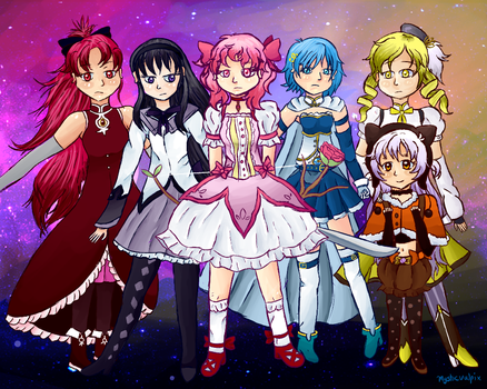 The Girls of Madoka Magica by Mysticvulpix