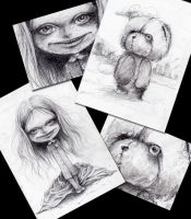 scary sketches by paulee1
