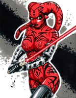 Naughty Darth Talon commission by gb2k