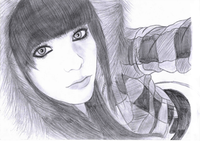 Scene Girl Drawing 3 by Conor332211