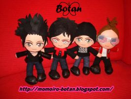 chibi Avenged Sevenfold plush version by Momoiro-Botan