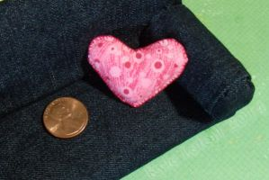 Dollhouse Miniature Spotted Heart Pillow by Kyle-Lefort