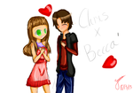 Becca and Chris uwu by Candyholic97