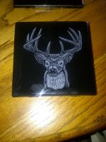 4x4 Deer Head Coaster by ckatt01