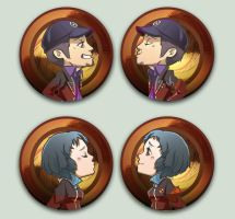 OTPins - P3 Fuuka and Junpei by oneoftwo