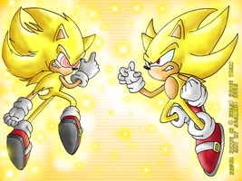 A Super Sonic battle by ThePandamis
