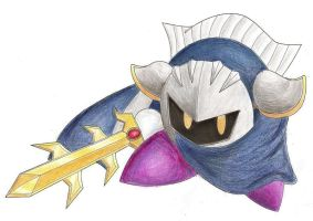 Meta Knight Colored by SleepyKirby